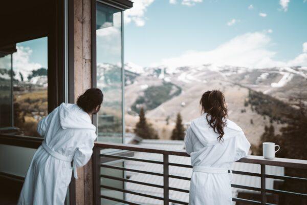 материя на луксозни комплекти халати за баня