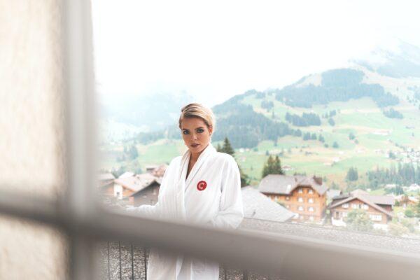 луксозни комплекти халати за баня за навън